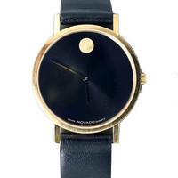 Vintage Movado Leather Band Watch | Shop American Apparel
