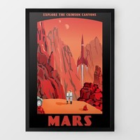 Canyons of Mars Travel Print