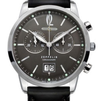 Graf Zeppelin Flat Line Chronograph Watch 7386-2