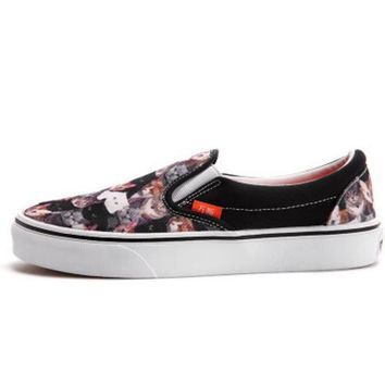 One-nice™ Vans Classic Canvas Leisure Shoes print H-CSXY