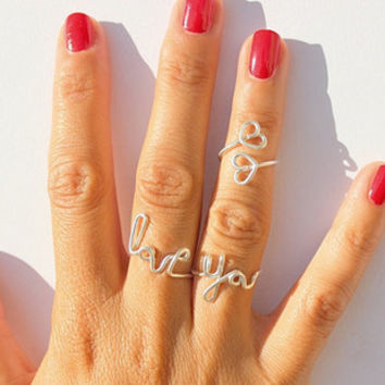 2015 Fashion Double silver heart midi ring Beach gold toe ring love Knuckle rings Jewelry