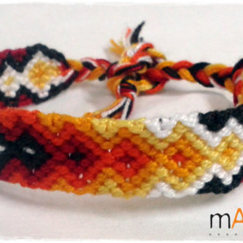 Flames Macrame Knotted Friendship Bracelet - Woven Wristband - Support our Cause