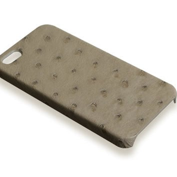 iPhone 5S case - beige ostrich