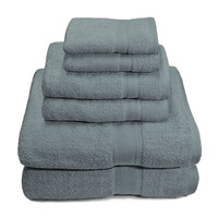 "ElegantBath Collection 100% Cotton 650 GSM 6 Piece Towel Set: 2 Bath Towels (30"" x 56""), 2 Hand Towels (16"" x 30"") and 2 Wash Cloths (14"" x 14)"
