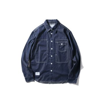 Denim Vintage Long Sleeve Shirt [10800263683]