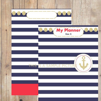 French Chic Printable Weekly Planner + 2 Free Binder Cover Pages /  PDF file
