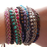 Braided Hemp Friendship Bracelets or Anklets - Tie On