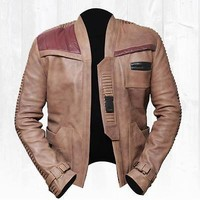 Poe Dameron Finn Star Wars Leather Jacket