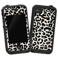 "Black and White Leopard ""Protective Decal Skin"" for LifeProof iPhone 4/4s Case"