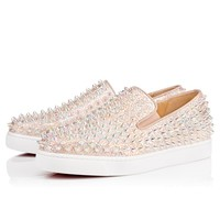 Roller Boat Women's Flat Doudou Fabric - Women Shoes - Christian Louboutin