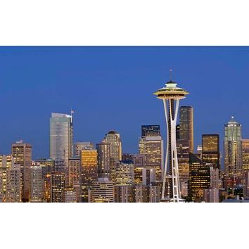Seattle Skyline Poster 11 inch x 17 inch poster