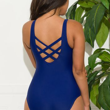 Jade Coast One Piece Swimsuit - Navy