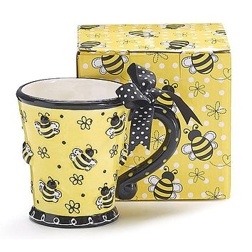 Bee Days Ceramic Mug with Gift Box
