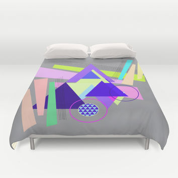 lines and triangles Duvet Cover by Haroulita