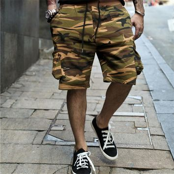 Camouflage cargo shorts military casual short pants brand cotton male camouflage shorts men's beach shorts summer 2017 new