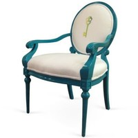 One Kings Lane - Woodson & Rummerfield - Louis-Style Key Chair, Blue