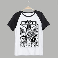 beastie boys t shirt soft comfortable good quality tee msc 80's