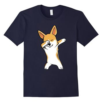 Dabbing Corgi Funny Dog T Shirts - Birthday Party Gift
