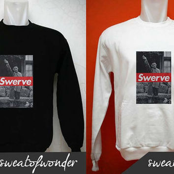 Swerve Will Smith sweater Black White and gray Sweatshirt Crewneck Men or Women Unisex Size