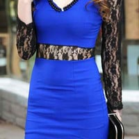 Bodycon V-Neck Lace Dress
