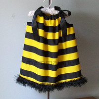 Bee Costume Pillowcase Dress. FREE antenna with purchase