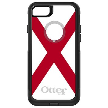 DistinctInk™ OtterBox Commuter Series Case for Apple iPhone or Samsung Galaxy - Alabama State Flag