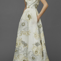 Off The Shoulder Soft Draped A-Line Gown