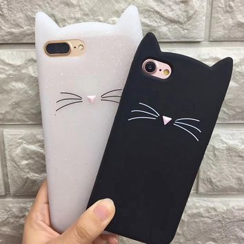 XINKSD 3D Cat Phone Case For Samsung Galaxy A5 A7 A3 2017 J5 J7 2016 Grand Prime S8 S7 S6 Edge Cute Silicone TPU Soft Cover