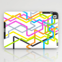 Colorful iPad Case - Neon 90s Metro - unique iPad case, geometric iPad case, hipster iPad case, iPad Case, iPad mini case