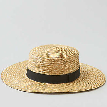 AEO STRAW BOATER HAT