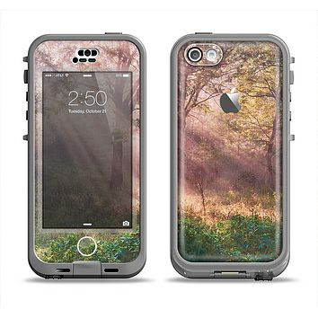 The Pink Sun Ray Meadow Apple iPhone 5c LifeProof Nuud Case Skin Set