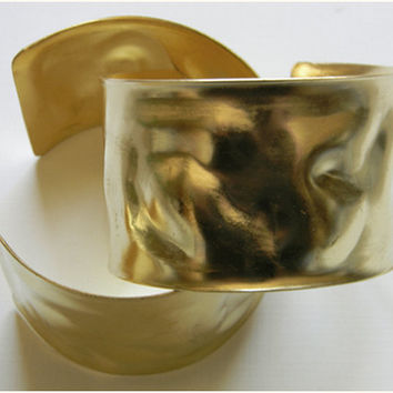 Raw Brass Wavy Blank Adjustable Cuff Bracelet - 1 pc.