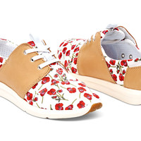 POPPY TEXTILE SANDSTORM LEATHER WOMEN'S DEL REY SNEAKERS
