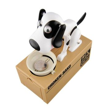 Hot Cute Small Dog Piggy Save Money Bank Saving Money Pot Coin Box Can Creative Gift