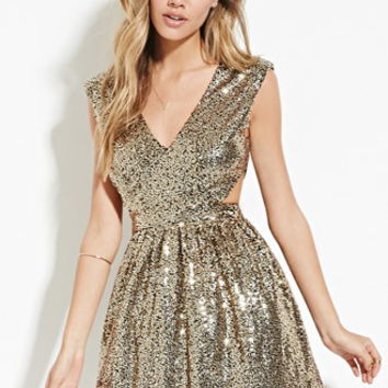 Sequined Cutout Dress