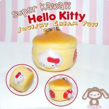 Super Kawaii Hello Kitty Squishy Cream Puff