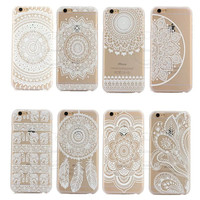 2016 New Plastic Hard Back Case Cover For Apple iPhone 6 6S 6 Plus 6SPlus HENNA OJIBWE DREAM CATCHER Ethnic Tribal