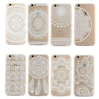 2016 New Plastic Hard Back Case Cover For Apple iPhone 6 6 Plus HENNA OJIBWE DREAM CATCHER Ethnic Tribal Free Shipping