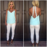 Mandalay Crochet Low Back Tank