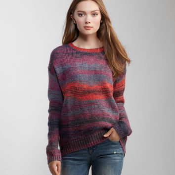 Space Dye Oversized Crew-Neck Sweater