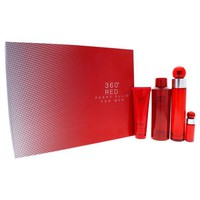 Perry Ellis 360 Red By Perry Ellis For Men - 4 Pc Gift Set 3.4Oz Edt Spray, 0.25Oz Edt Spray, 6.8Oz Deodorizing