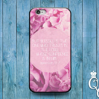 iPhone 4 4s 5 5s 5c 6 6s plus iPod Touch 4th 5th 6th Generation Custom Phone Case Cute Pink Bible Verse Quote Jeremiah Blessed Flower Cover
