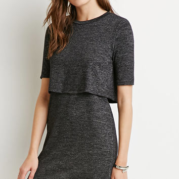 Layered Split-Back Dress