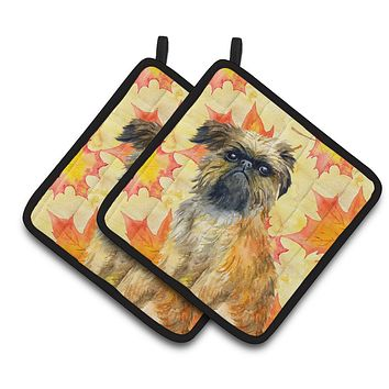 Brussels Griffon Fall Pair of Pot Holders BB9948PTHD