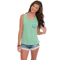 Marled Boyfriend Tank Top in Heather Teal by The Southern Shirt Co. - FINAL SALE