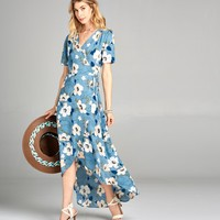 Wild Poppy Wrap Dress
