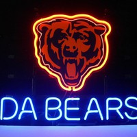 Chicago Bears Football Neon Sign Real Neon Light