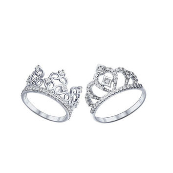 crown ring set princess ring set king and queen ring set king ring silver crown ring set crown sterling silver ring crown jewerly crown set