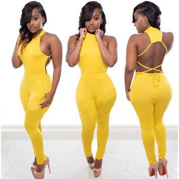 Yellow Cut-Out Jumpsuit