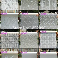 2017 45cm*100cm Frosted Privacy Glass Window Film  Adhesive Embossed Window Sticker Home Decor Mixed Color Toilet Mirror